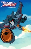 Starscream teh Animated way by dcjosh