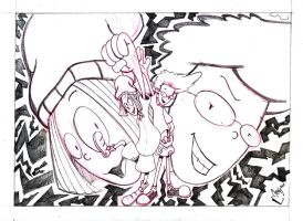 Pepper Ann Milo Pencil drawing by Orbcreation