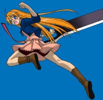 Asuna of the Flying Sword by shaoron