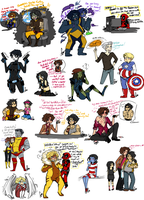 Marvel Sketch Dump 13 by Squidbiscuit