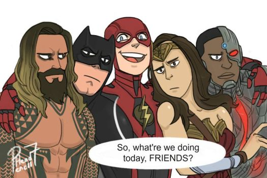 Super Friends by pencilHead7