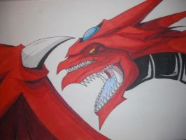 Slifer with promarkers by Nami-v