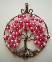 Be My Valentine! Tree of Life Pendant *SOLD* by RachaelsWireGarden