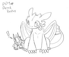 Toothless HTTYD Sketch by DinyDino9