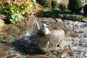 little duck fountain by ingeline-art