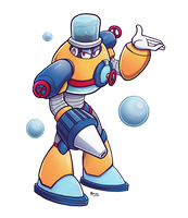 AquaWoman - Megaman Genderswap Collab by marcotte