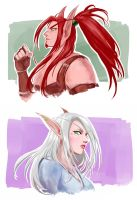 WoW - Some Blood Elves Portraits by NekoWork