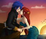 Above the sea by thewhitefoxie
