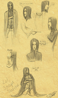 Snape Sketches LOL by Chancc