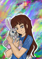 Le Wabbit by fullcolour-canvas