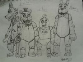 The FNAF Crew by InvaderAllieNinja