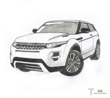Range Rover Evoque Drawing by iFaze