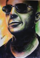 Bruce Willis by AlaseaInk