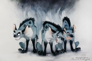 The Hyena Trio (Lion King) by Michelle-Winer