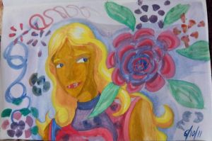 Lady with Rose 11-10-6 by Lisa22882