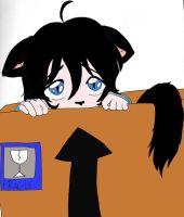 Kuroi in the box by Crimson-Panthera