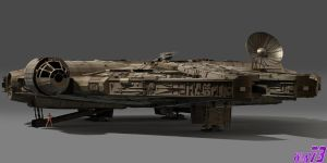 Millenium Falcon Scale 1:1 by WLN73