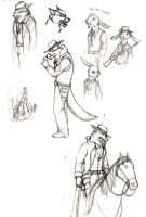 Sketches- Halen and Hare by Pandadrake
