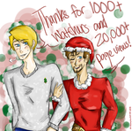 Thank You Very Much! 20,000 Views - 1000 Watchers! by Ask-StevexTony