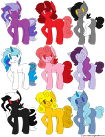 [OPEN] MLP Adoptables - 4 points each by Gingerpatch-59