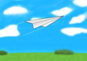 paper plane by king-of-rats