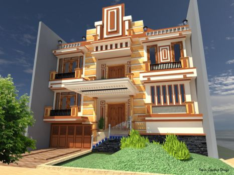 just another building from my artwork... hehe... by JhunHwoarang