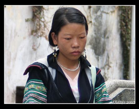 Lonely Hmong girl by Olithys