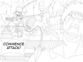 Attack on Zetsus Lineart by Johnny-Wolf