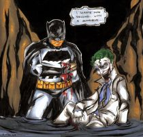 The Dark Knight and Joker Color by wheels9696