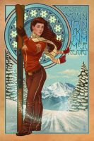 Art Nouveau - Ski by Chronoperates