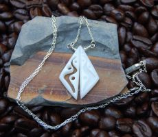 River Twins Necklace by DreamingDragonDesign