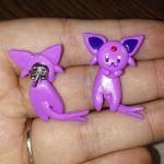 Espeon Earrings by Micrackin