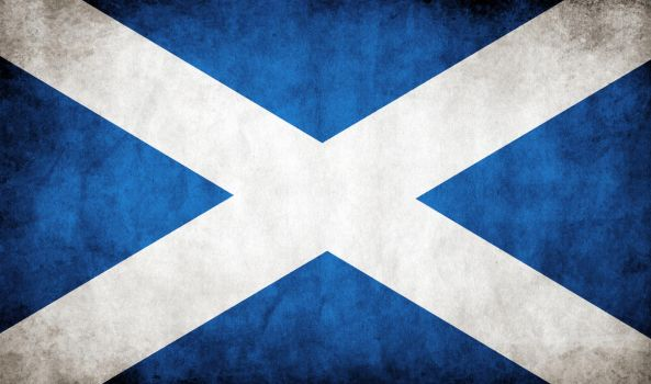 Scotland Grungy Flag by think0