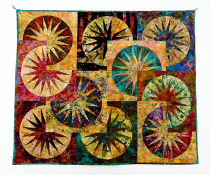 Paper Pieced Suns by MysticalDreamer