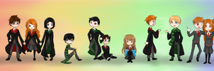 Harry Potter Chibis by BlueEmperorButterfly