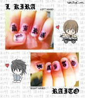 ..::Death Note Nails::.. by HaleyBopComet