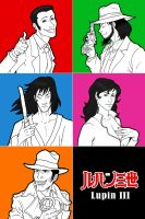 Lupin III: Color team by Boudicca-Keltoi