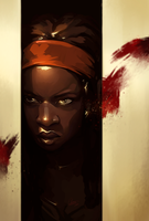 Michonne by Syllirium