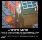 Charging Wands by AwesomeHeartAngel