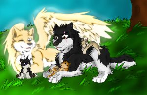 Art Trade - Vlad's Family by Firewolf-Anime