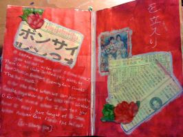 First Page Altered Book 'Red' by Art-From-The-Id