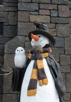 Hogsmeade Snow Man by Violent-Dimensions