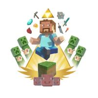 Minecraft god by davidhueso