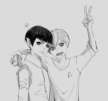 Kirk/Spock by Shihy