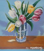 Tulips Oil Painting by angelheart05