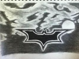Batman logo (unfinished) by Ben3418
