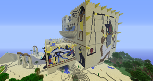 Minecraft:  Fesh'knet palace side view #1 by Sherio88
