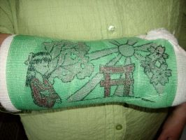 Mom's Cast Drawings by AkiAmeko