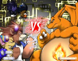 The Rushin, Lion and Charizard by WerewolfMax