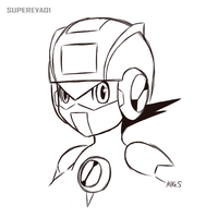 Megaman EXE Sketch by supereva01
